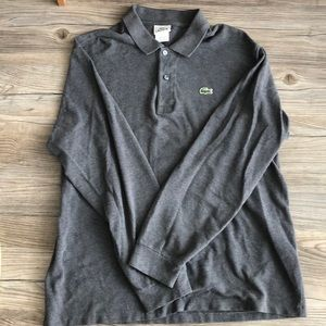 Lacoste Long sleeve Polo. Lacoste Size 6 (Large)